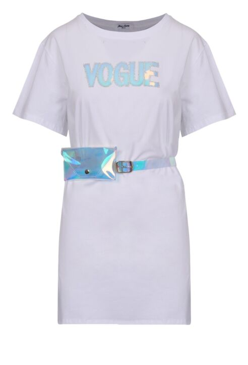T-shirt Dress Vogue Wit