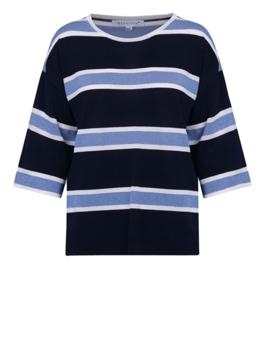 Top Sparkle Stripe Blauw