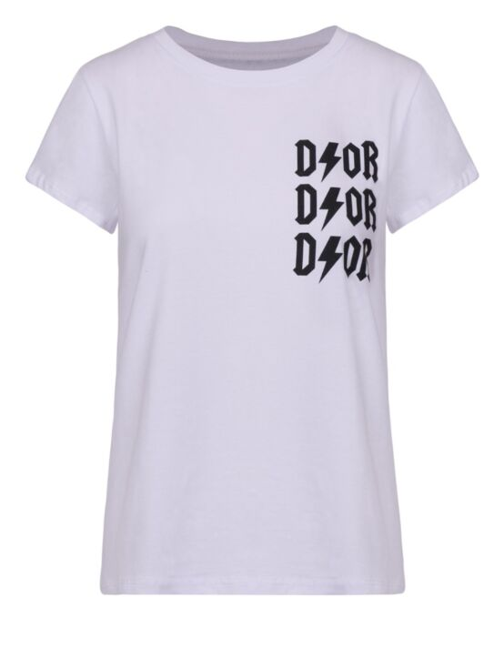 T-shirt D!or Wit