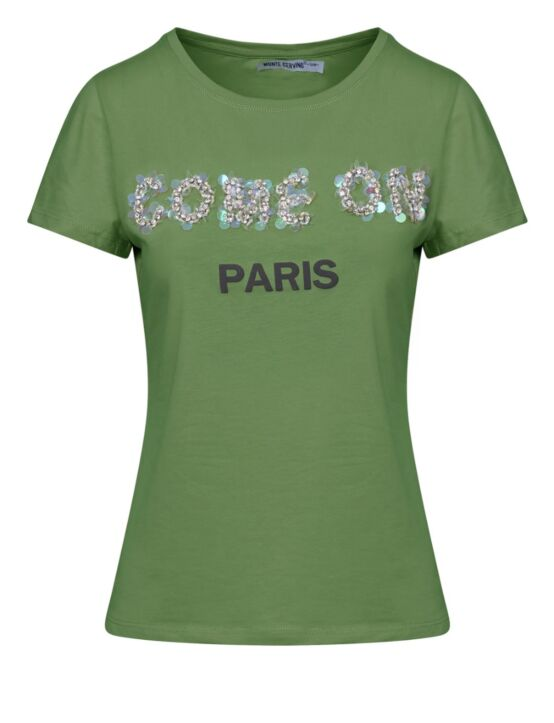 T-shirt Come On Paris Groen