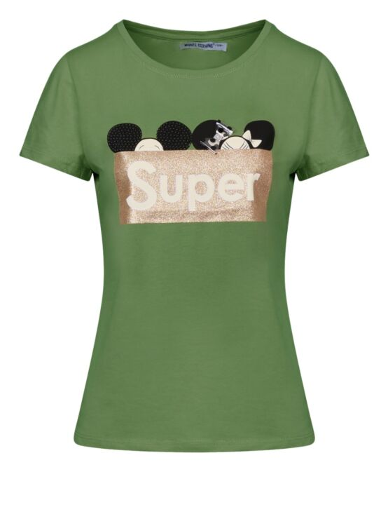 T-shirt Super Groen