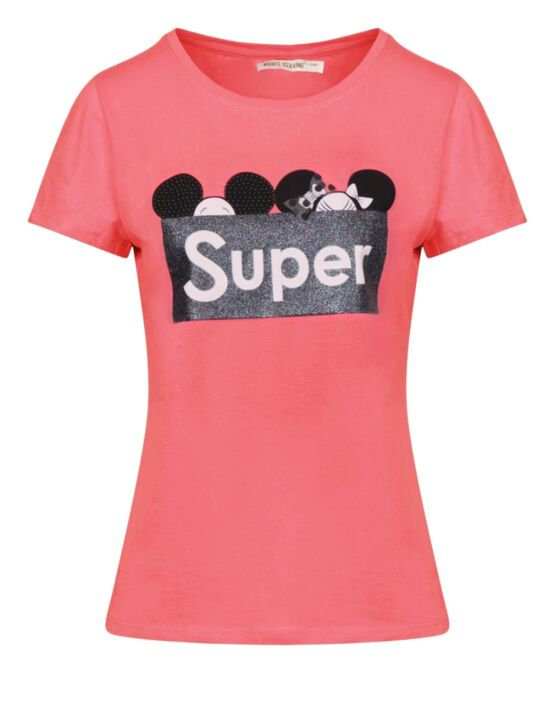 T-shirt Super Roze