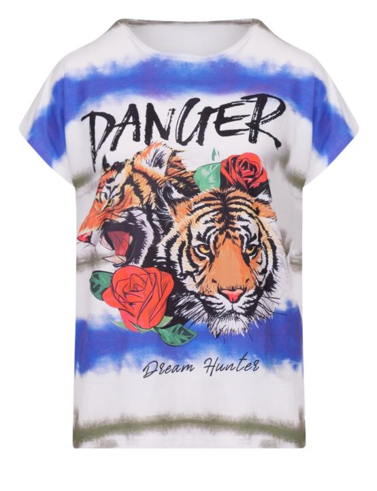 T-shirt Tie Dye Danger Blauw