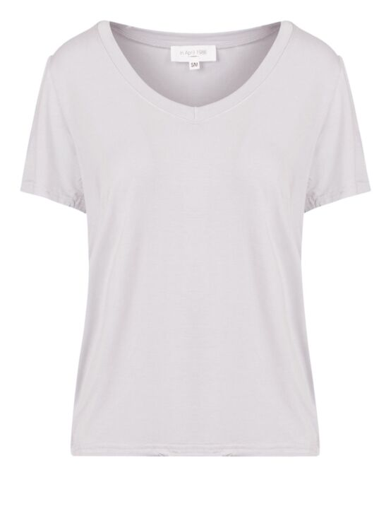 Basic T-shirt Violet Wit