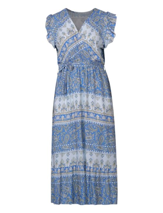 Long Dress Tess Blauw