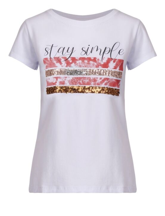 T-shirt Stay Simple Roest