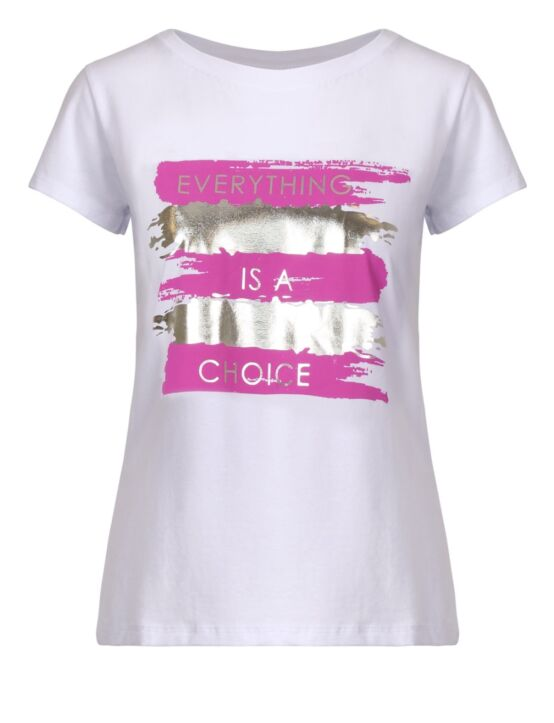 T-shirt Choice Metallic Fuchsia