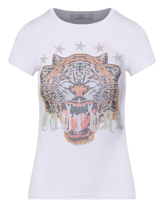 T-shirt Tiger Wit