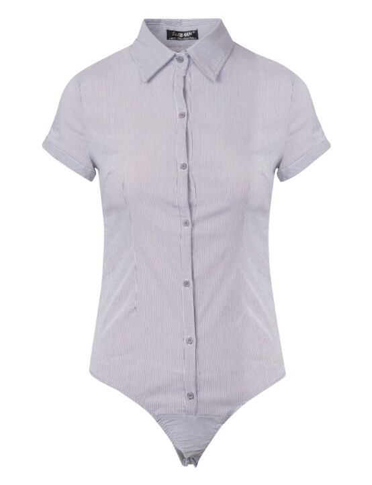 Basic Body Blouse Short Sleeve Wit