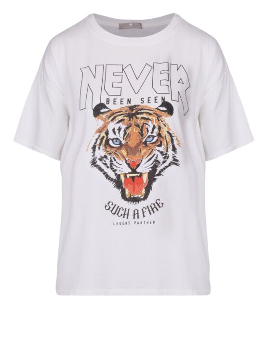 T-shirt Legend Panther Wit