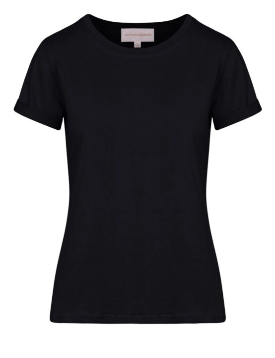 Basic T-shirt Door Zwart