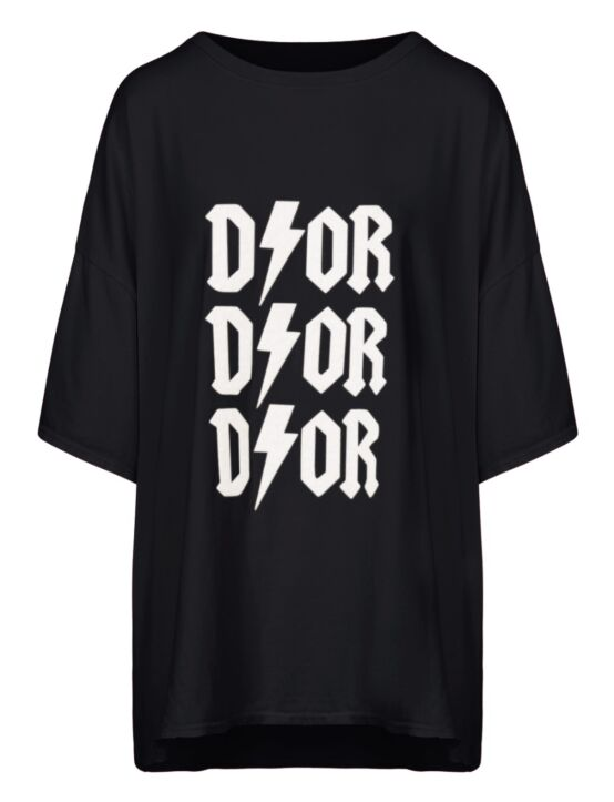 Oversized Tee 3x D!or Zwart