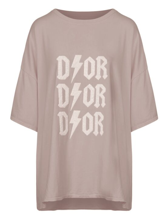 Oversized Tee 3x D!or Beige