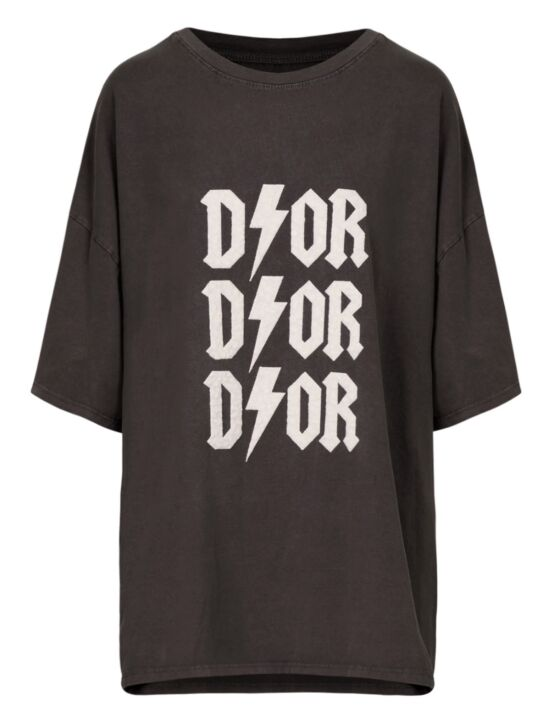 Oversized Tee 3x D!or Donkergrijs