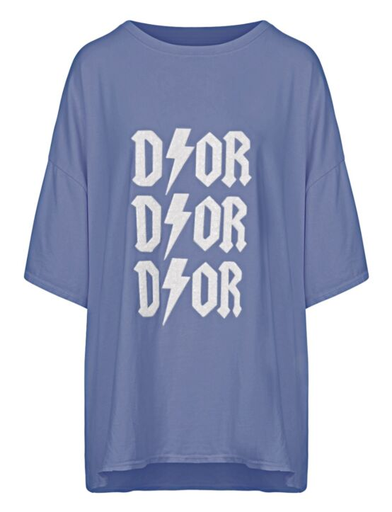 Oversized Tee 3x D!or Blauw