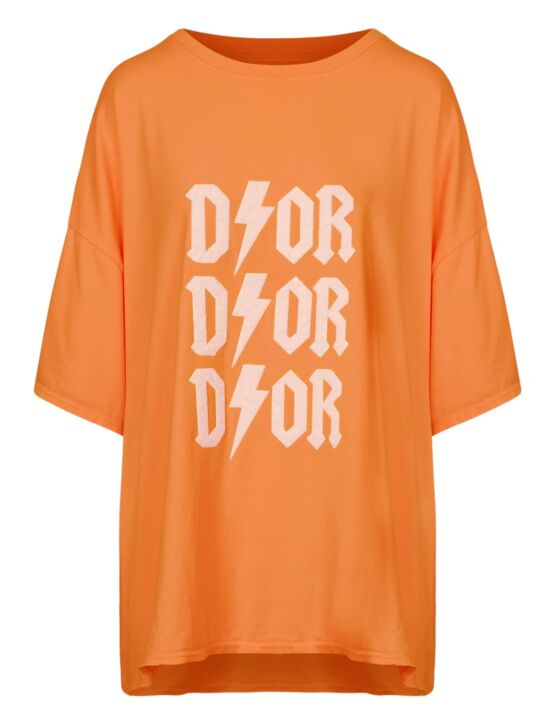 Oversized Tee 3x D!or Oranje