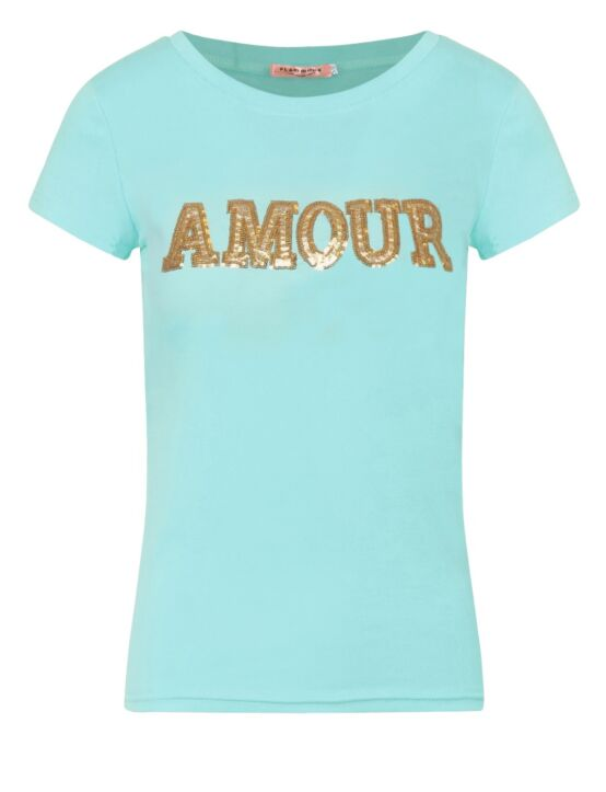 T-shirt Amour Turquoise