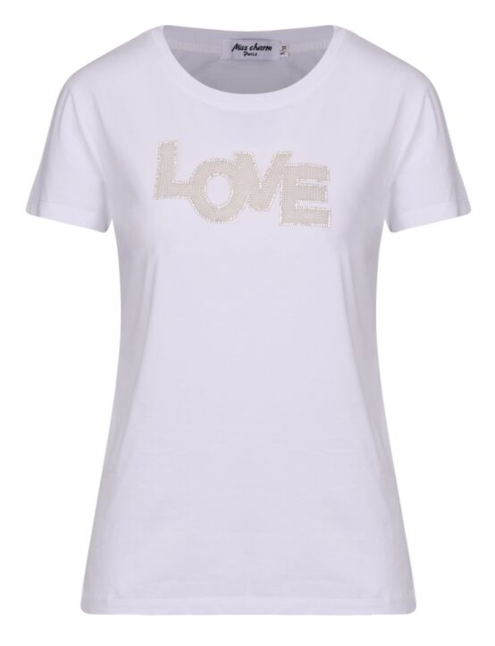 T-shirt Love Pearls Wit