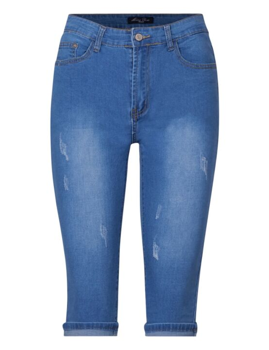 Miss You | Blue Capri Jeans BS001#