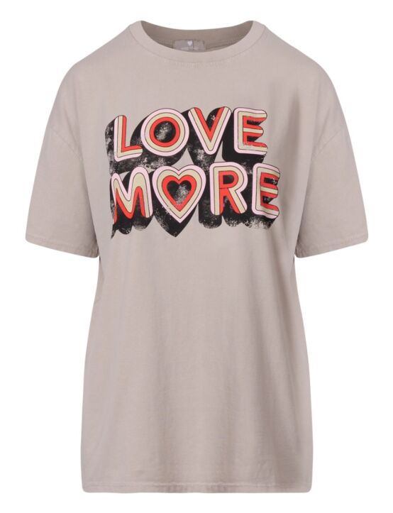 T-shirt Love More Taupe