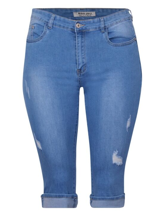 Miss You | Blue Capri Jeans BY884