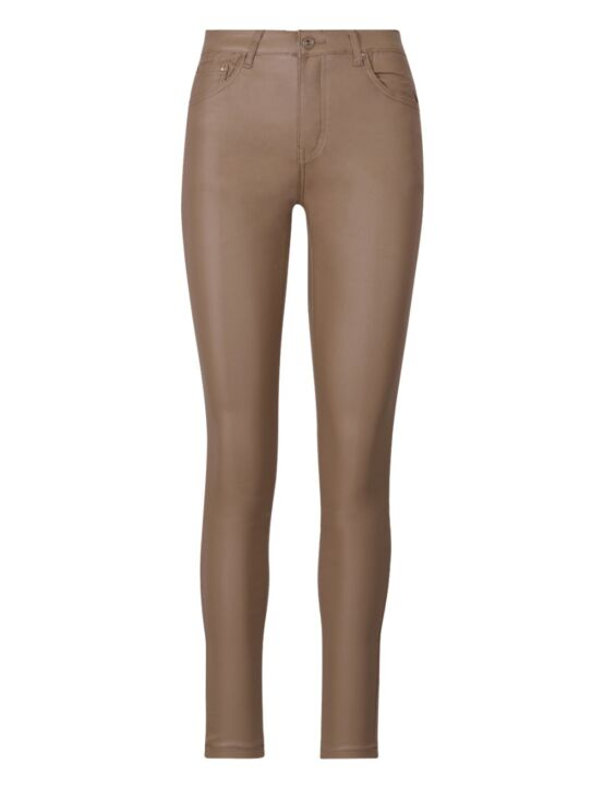 Ana & Lucy | Coated, Super High Waist Jeans H6826 Taupe