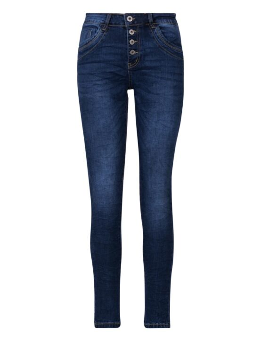 Jewelly | Baggy Jeans JW7026 Donkerblauw