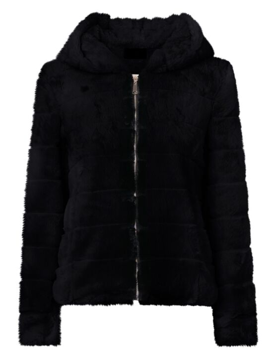 Furry Jacket Fenna Zwart