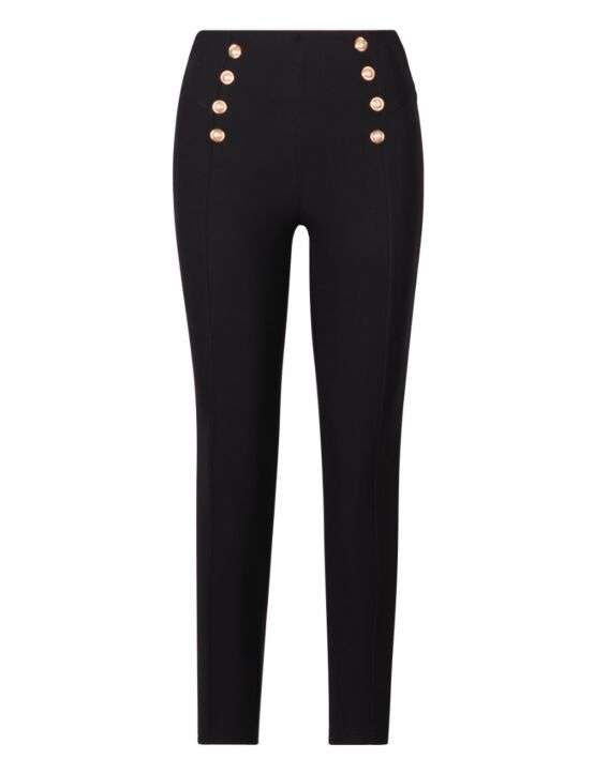 Legging Button Zwart