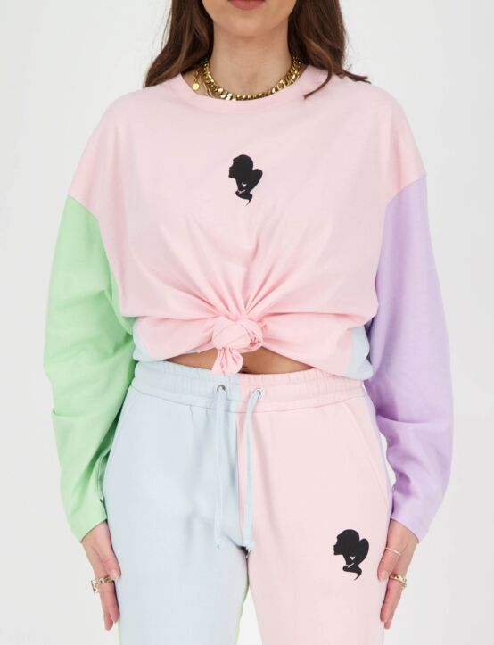 Reinders | T-shirt Oversized Long Sleeve Baby Pink
