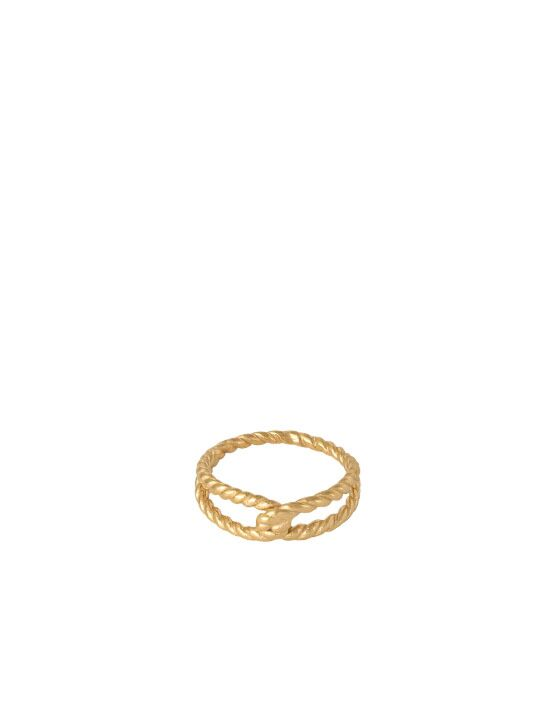 Ring Twisted Rope Goud