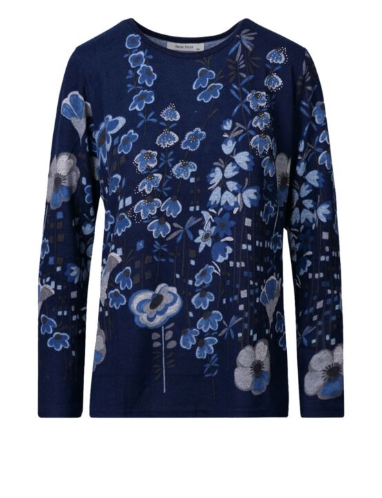 Top Chine Blauw
