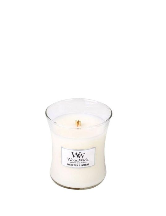 WoodWick | White Tea & Jasmine Medium Candle