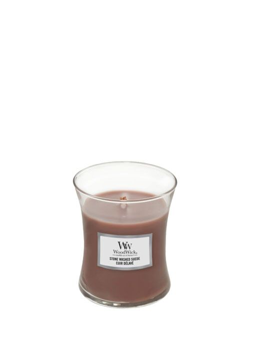 WoodWick | Stone Washed Suede Medium Candle